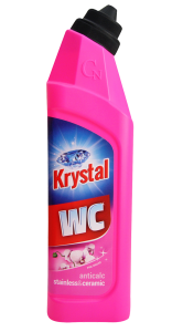 Krystal ŻEL do WC różowy stainless&ceramic 750ml